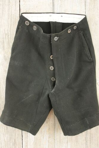 Shorts c 1920 Vintage French men's work clothing clothes wool 1910's textile