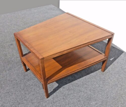 Vintage Danish Modern Style Two Tier Wood End Table Coffee Table Lane Style