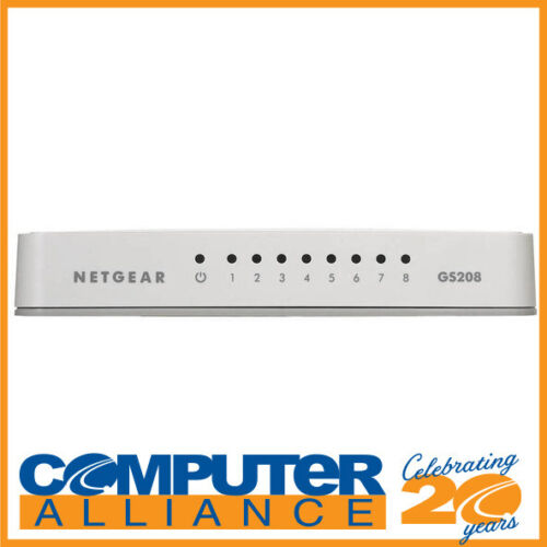8 Port Netgear GS208 Gigabit Network Switch