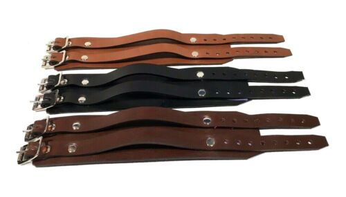 Genuine LEATHER 2 strap wristband wrist cuff Depp Elliott smith steam Rats Bum <br/> Available in Black, Brown, Tan, White or Pink Leather