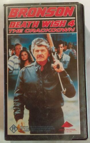 Death Wish 4 VHS 1987 Action J Lee Thompson Charles Bronson Hoyts Polygram Small