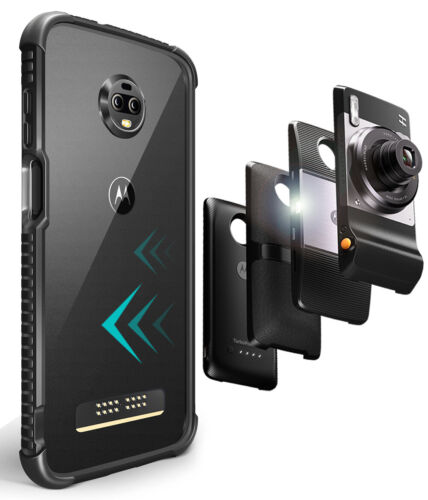Motorola Moto Z3/Z3 Play Protective Bumper Case Cover/ Compatible With Moto Mods