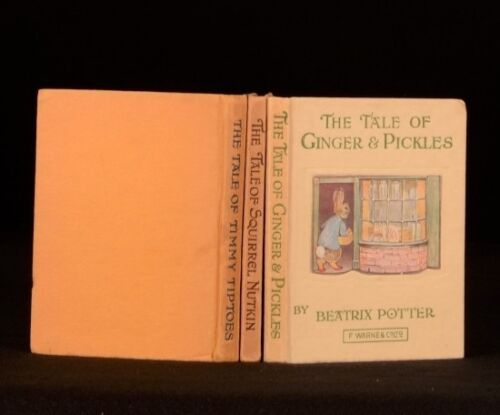 c1930 3vol Tales of Beatrix Potter Timmy Tiptoes Squirrel Nutkin Ginger Pickles