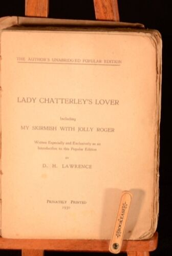 1930 D.H. Lawrence Lady Chatterley's Lover Privately Printed Edition