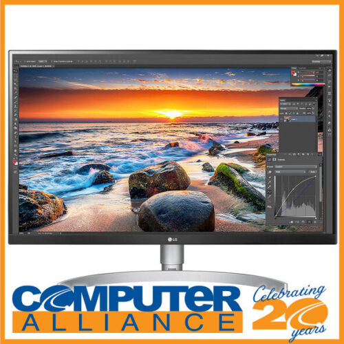 """27"""" LG 27UL850-W UHD IPS LED Monitor with Height Adjust and Speakers HDR400"""