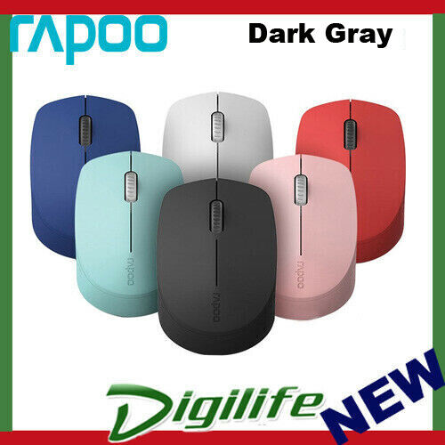 RAPOO M100 2.4GHz & Bluetooth Quiet Click Wireless Mouse Dark Gray - 1300dpi