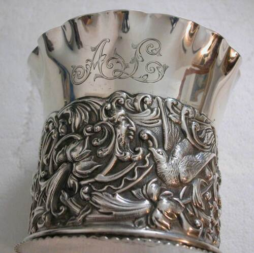 A GORGEOUS FRENCH STERLING SILVER BOTTLE STAND PRODUCED BY TIFFANY & Co
