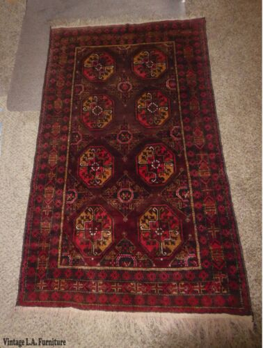 Vintage Persian Floral Red & Yellow Wool Rectangle Runner Rug