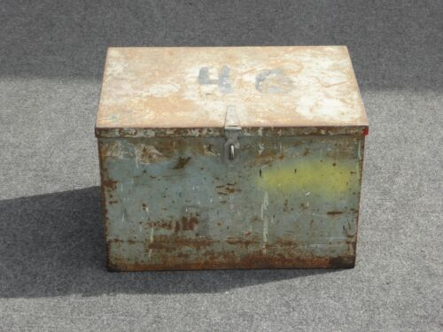 Vintage Rustic Metal Storage Box Farmhouse French Country Cottage
