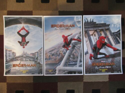 """Spider-Man - Far from Home  (11"""" x 17"""") Movie Poster Prints (Set of 3)"""