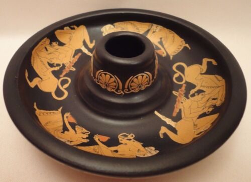 Ancient Greek Scenes Rare Ancient Greek Art Pottery Candle Holder