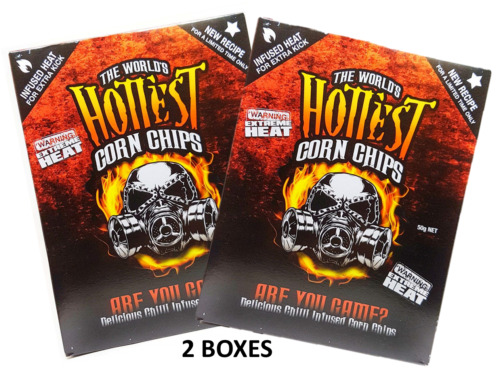 2 BOXES of The World's Hottest Corn Chips! SUPER XXX HOT Chilli Seed Bank /sauce