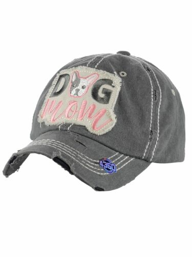 89c968c0448 Ceci® Womens Baseball Cap  Dog Mom  Distressed Vintage Embroidered Dad Hat
