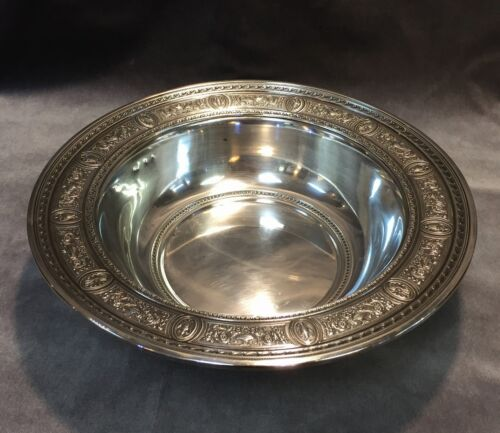 "International STERLING Silver ""Wedgwood"" 11.5"" Centerpiece Bowl"