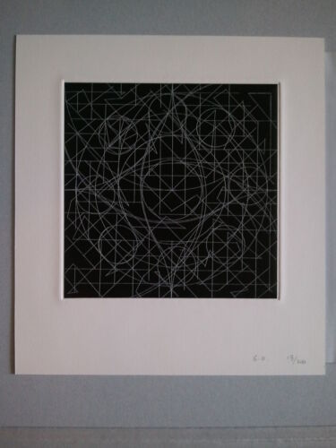MEXICAN GABRIEL OROZCO PUBLISHED HAND SIGNED ETCHING WITH CHINE COLLE
