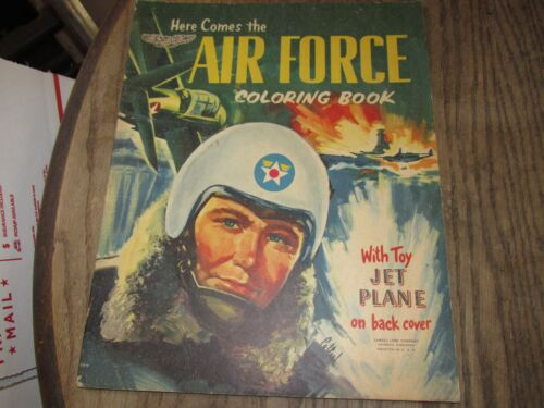 VINTAGE SAMUEL LOWE HERE COMES THE Air Force COLORING BOOK Airforce 1951Other Militaria - 135