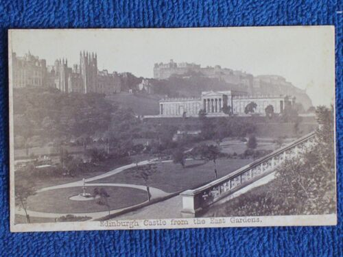 Scotland/Edinburgh Castle from the East Gardens/A. Burns 1860s Albumen Photo CDV