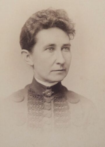 ANTIQUE 1880's CABINET  PHOTOGRAPH - RUSHVILLE INDIANA WOMAN POSING