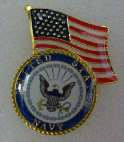 US Navy / American flag on top  lapel pin  Very nice New!Army - 66529