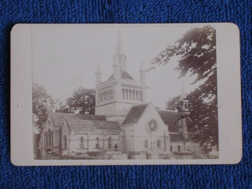 Whippingham Isle of Wight UK/St Mildred's Church/Antique 1860s Albumen Photo CDV