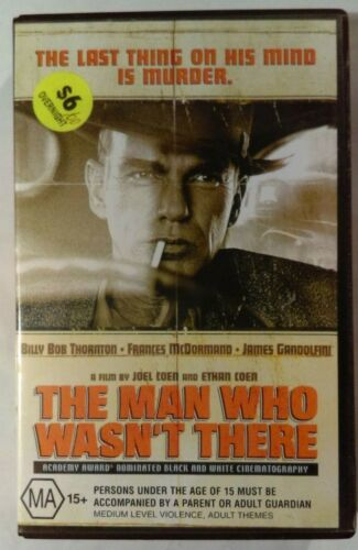 The Man Who Wasn't There VHS 2001 Thriller Coen Bros BB Thornton Hollywood Large