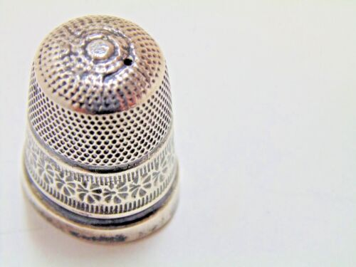 Sterling Silver Thimble James Swan & Son Size 7
