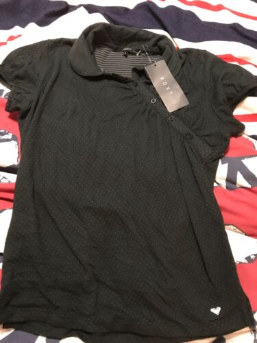💕Roxy Womens Black Size 14 Wrap Tshirt New With Tags 💕