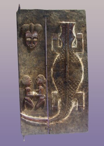 "African Baule Door From The Ivory Coast 48"" High x 24"" Wide"