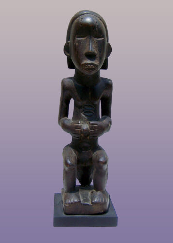 """African Dan Female Figure From Liberia 10"""" Tall with stand"""