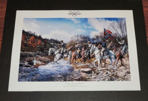 John Paul Strain - Charge Accross the Harpeth - Collectible Civil War Print