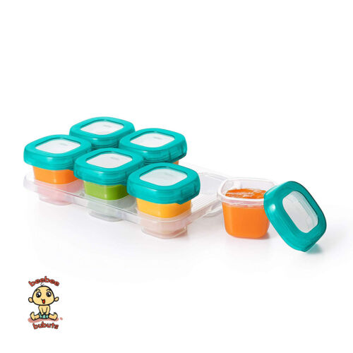 OXO Tot Baby Blocks Freezer Storage Containers (2 Oz) Teal Authentic Brand New