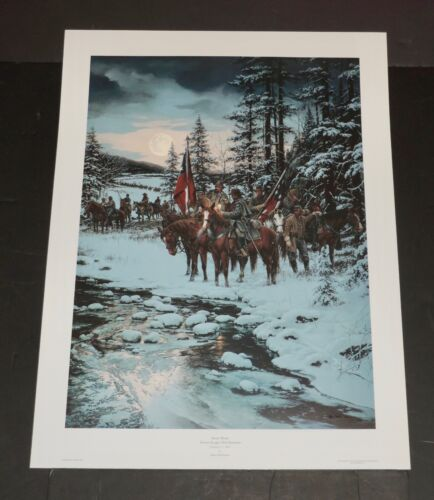 John Paul Strain - Snow  Moon - Hand Signed -  Collectible Civil War Print