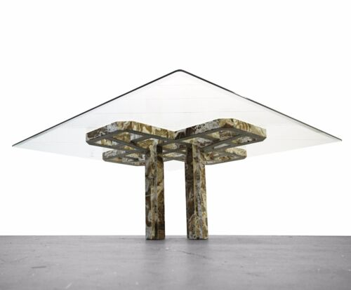 Intricate Vintage Onyx Dining Table