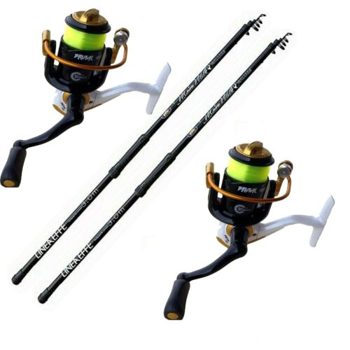 Kit  Surfcasting N. 2  Canna + Mulinello Pesca Surf Casting Piombo Mare Gr.150