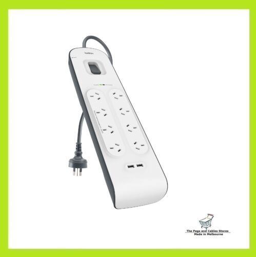 Belkin SurgePlus 8 Outlet 2 USB Surge Protector Powerboard