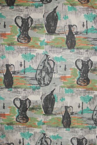 Vintage Fabric mid century modern design material 1950's French bed cover spread