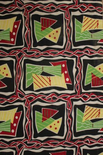 Mid Century Modern Fabric Vintage material 1950's French upholstery abstract
