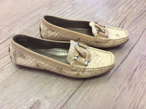 CAPOLLINI FAUX SNAKESKIN LEATHER  DRIVING SHOES.  SIZE UK 3