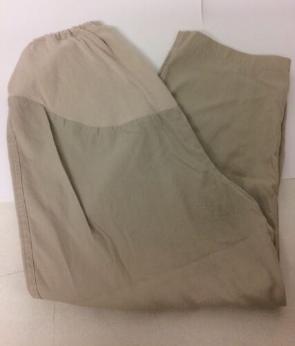 Dorothy Perkins Maternity Beige Trousers Size 14 Tapered Adjustable Waist Cotton