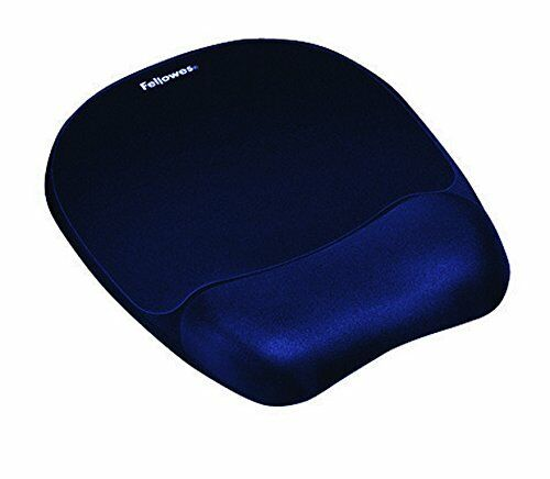 Fellowes Memory Foam Mouse Pad  Wrist Support - Sapphire