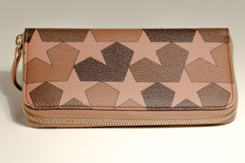 Ports 1961 Brown Calf leather Camouflage Star Wallet  Portafoglio Donna