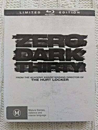 ZERO DARK THIRTY – BLU-RAY- LIMITED EDITION - LIKE NEW-FREE POST IN AUSTRALIA