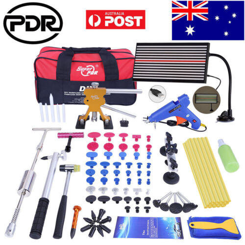 AU PDR Tools Dent Puller Lifter Paintless Hail Removal LED Line Board Repair Kit <br/> NO.1 PDR Decent Tool Kit√Easy Returns√Useful Warranty√
