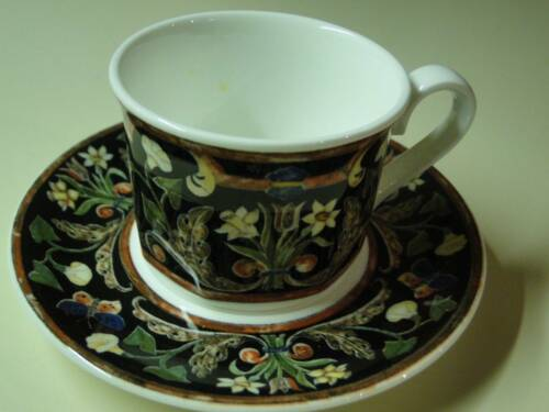 Coffee cup and saucer, Gallo design Intarsia, made in Germany