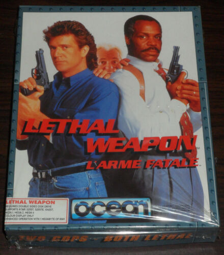 Atari ST. Lethal Weapon L'Arme Fatale (Still Partially Sealed, Unopened)