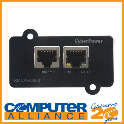 CyberPower SNMP Card to Suit ON-Line Series UPS and ENVIROSENSOR PN RMCARD303