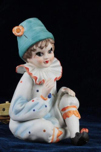 I Rice Clown Mime Boy Figural Bisque Perfume Lamp Night Light Charming Novelty