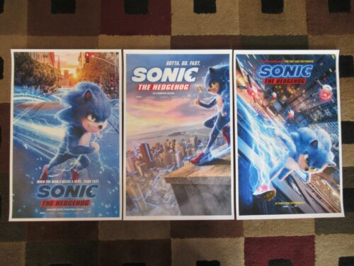 "Sonic the Hedgehog (11"" x 17"") Movie Collector's Poster Prints( Set of 3 )"