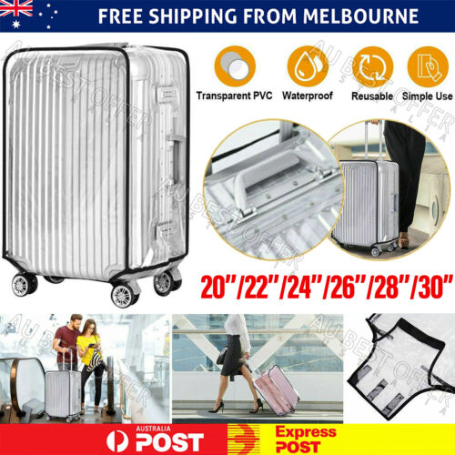 """Transparent Waterproof PVC Travel Luggage Protector Suitcase Cover 20""""-30"""""""