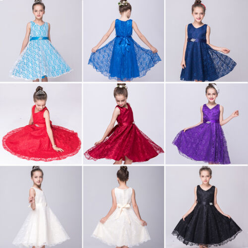 Flower Girl Princess Pageant Tulle Tutu Dress Kids Party Wedding Bridesmaid New